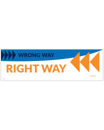 "Right/Wrong Way Left 18"" x 5.5"" Wall Decal (10/Pack)"