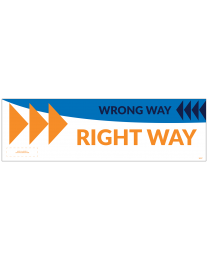 "Right/Wrong Way Right 18"" x 5.5"" Wall Decal (10/Pack)"