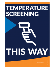 Help Promote Good Practices With Temperature Screening A-Frame Panel Inserts.