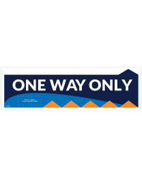 "One Way Only 17.5"" x 5.5"" Directional Floor Decals (10/Pack)"