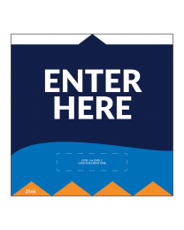 "Enter Here 5""x5"" Wall / Door Decals (10/Pack)"