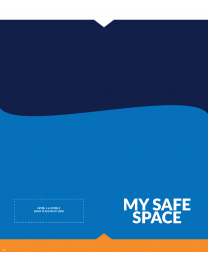 "My Safe Space 19.5"" x 28"" Disposable Workstation Counter Mat (100/Pack)"