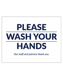 "8.5"" 11"" Please Wash Your Hands Bathroom Door Posters are perfect for restaurant bathroom signage."