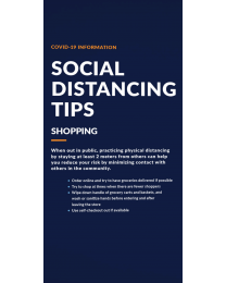 Social Distancing Pull Up Banner with Stand