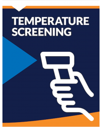 Poster Stand Insert - Temperature Screening (2 Inserts/Order, Poster Stand Purchased Separately)