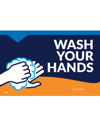 "Wash Your Hands 11""x17"" Window / Mirror Decals (10/Pack)"