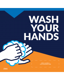 "Wash Your Hands 5""x5"" Window / Mirror Decals (10/Pack)"
