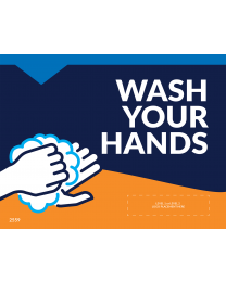 "Wash Your Hands 8.5""x11"" Window / Mirror Decals (10/Pack)"