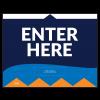 """Enter Here 8.5""""x11"""" Wall / Door Decals (10/Pack)"""