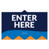 "Enter Here 11""x17"" Wall / Door Decals (10/Pack)"