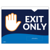 "Exit Only 8.5""x11"" Wall / Door Decals (10/Pack)"
