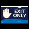 """Exit Only 11""""x17"""" Wall / Door Decals (10/Pack)"""