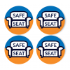 "Safe Seat 4"" Sitting Decals (40/Pack)"