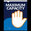 "Maximum Capacity 8.5""x11"" Wall / Door Decals (10/Pack)"