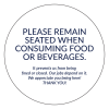 """""""Please Remain Seated"""" 4""""x4"""" Round Removable Stickers (40/Pack)"""