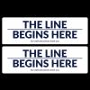 """""""The Line Begins Here"""" 17"""" x 5.25"""" Floor Decals (10/Pack)"""