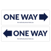 """ONE WAY 17"""" x 5.25"""" (10/Pack, 5 One Way Left/5 One Way Right Decals)"""