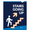 "Stairs Up Wall/Door Decal 8.5""x11"" Wall / Door Decals (10/Pack)"