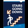 """Stairs Down Wall/Door Decal 8.5""""x11"""" Wall / Door Decals (10/Pack)"""