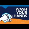 "Wash Your Hands 11""x17"" Window / Mirror Decals (10/Pack)"