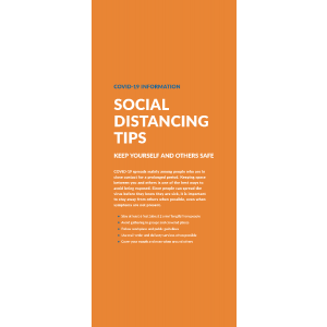 Social Distancing Keep Safe Tips Pull Up Banner with Stand