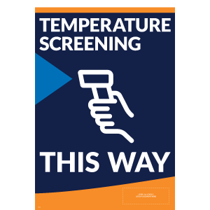 A-Frame Panel - Temperature Screening (2 Inserts/Order, A-Frame Purchased Separately)