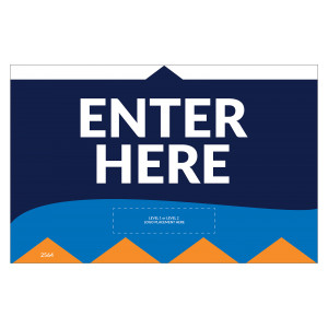 """Enter Here 11""""x17"""" Wall / Door Decals (10/Pack)"""