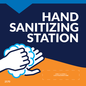 "Hand Sanitizing Station 5""x5"" Wall Decals (10/Pack)"
