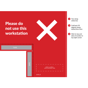 "Monitor Topper Do Not Use 9"" x 9"" Sign (10/Pack - Double Sided)"