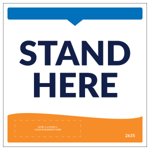 "Stand Here 8"" x 8"" Outdoors Decals (10/Pack)"