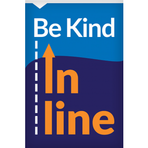 A-Frame Panel - Be Kind In Line (2 Inserts/Order, A-Frame Purchased Separately)