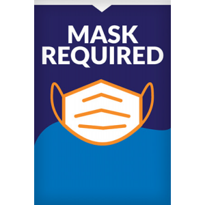 Poster Stand Insert - Mask Required (2 Inserts/Order, Poster Stand Purchased Separately)