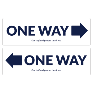 "ONE WAY 17"" x 5.25"" (10/Pack, 5 One Way Left/5 One Way Right Decals)"