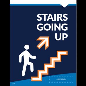 """Stairs Up Wall/Door Decal 8.5""""x11"""" Wall / Door Decals (10/Pack)"""