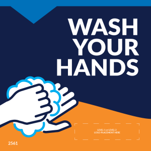 "Wash Your Hands 5""x5"" Window / Mirror Decals (10/Pack)"
