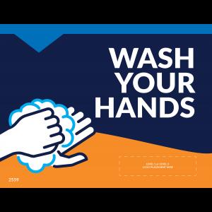 "Wash Your Hands 8.5""x11"" Window / Mirror Decals (10/Pack)"
