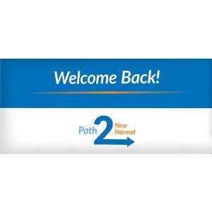 10' x 4' Welcome Back Vinyl Banner