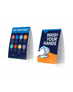 Do Your Part / Clean Hands Table Tent (10/Pack)