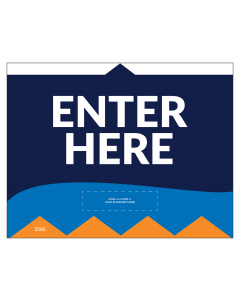 "Enter Here 8.5""x11"" Wall / Door Decals (10/Pack)"
