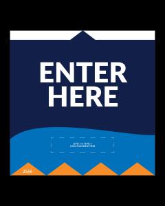 """Enter Here 5""""x5"""" Wall / Door Decals (10/Pack)"""