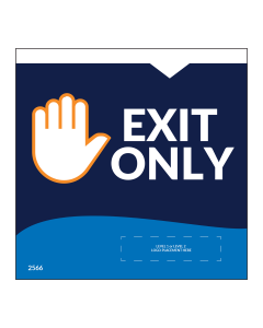 "Exit Only 5""x5"" Wall / Door Decals (10/Pack)"