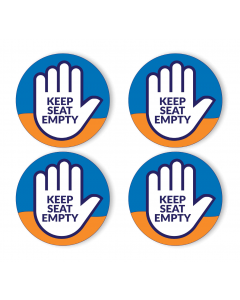 "Keep Seat Empty 4"" No Sitting Decals (40/Pack)"