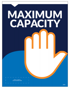 "Maximum Capacity 8.5""x11"" Wall / Door Decals (10/Pack)"
