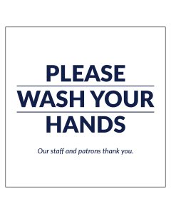 "5"" x 5"" Wash Your Hands Mirror Clings perfect for bathroom signage."