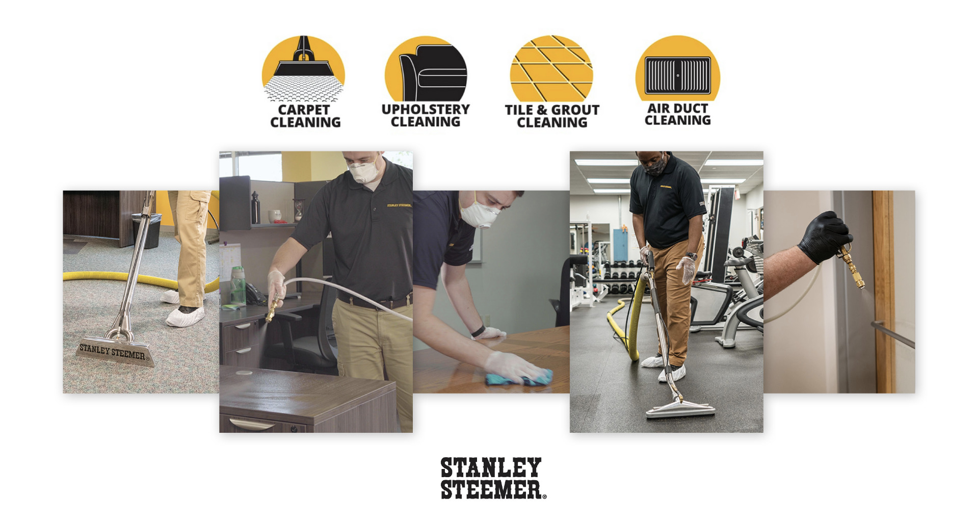 Stanley Steemer uses an EPA Registered Disinfectant Cleaner to kill a broad spectrum of microorganisms providing clean, sanitary and healthy commercial spaces.